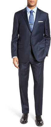 Hickey Freeman Classic B Fit Solid Loro Piana Wool Suit