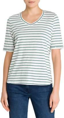 Olsen Colour Love Striped V-Neck Tee