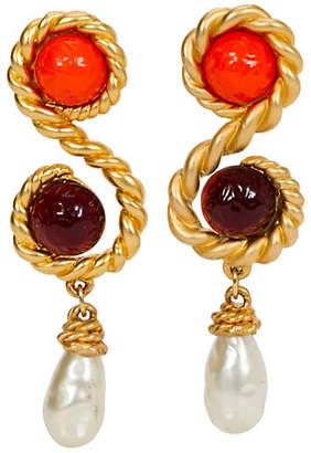 One Kings Lane Vintage Chanel Runway Oversize Gripoix Earrings