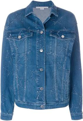 Stella McCartney distressed star denim jacket
