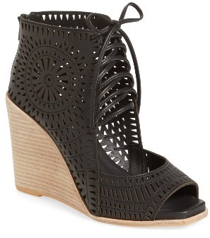 Women's Jeffrey Campbell Rayos Perforated Wedge Sandal $149.95 thestylecure.com