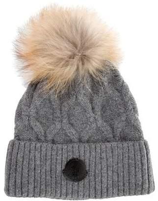 8f06483db53 Moncler Fox Fur-Trimmed Rib Knit Beanie