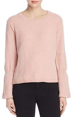 Elan International Chenille Bell-Sleeve Sweater