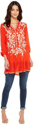 Johnny Was - Nikki Tunic Women's Blouse $248 thestylecure.com