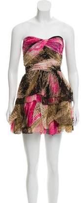 Diane von Furstenberg Silk Sweetheart Neckline Dress