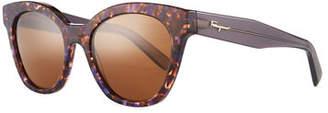 Salvatore Ferragamo Classic Cat-Eye Zyl® Sunglasses