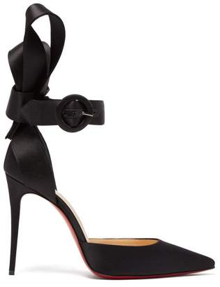 Christian Louboutin Raissa 100 Bow Back Satin Pumps - Womens - Black