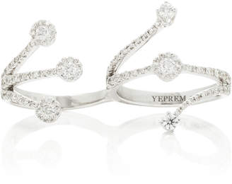 Yeprem Wrapped 18K White Gold And Diamond Two-Finger Ring