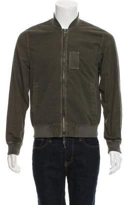 AllSaints Seersucker Bomber Jacket