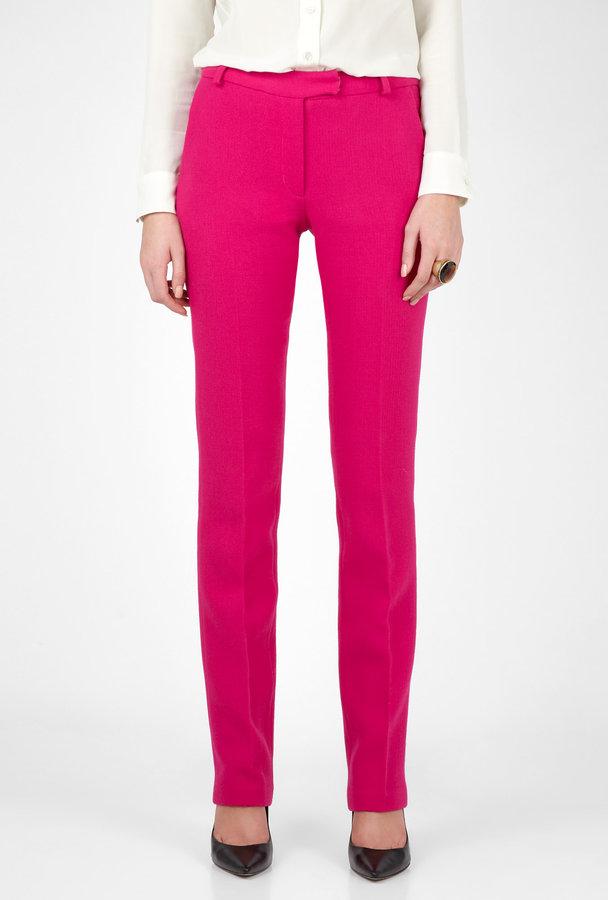 Preen Pink Razor Skinny Wool Trousers