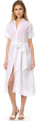 Lisa Marie Fernandez Eyelet Shirtdress $635 thestylecure.com