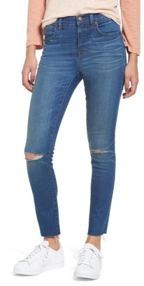 Women's Madewell 10-Inch High Rise Skinny Jeans $135 thestylecure.com