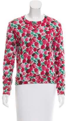 Marc Jacobs Floral Crew Neck Sweatshirt