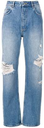 Anine Bing Leigh ripped boyfriend jeans