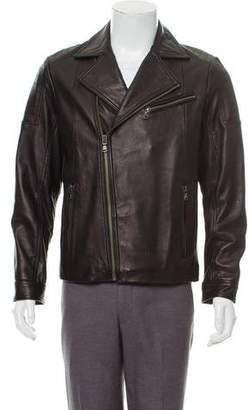 Saks Fifth Avenue Notch-Lapel Leather Jacket w/ Tags