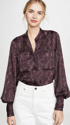Equipment Helaine Python Blouse