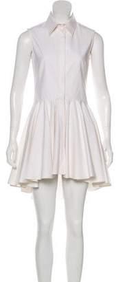 Alexander McQueen Sleeveless Mini Shirtdress