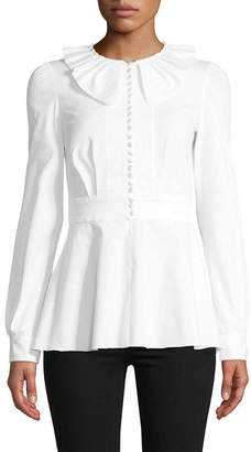 Dolce & Gabbana Peplum Button-Down Shirt