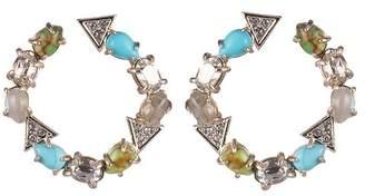 Alexis Bittar Stone Hoop Earrings