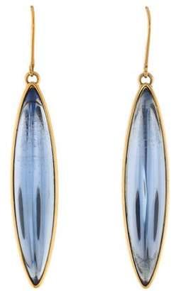 Lalique Crystal Navette Drop Earrings