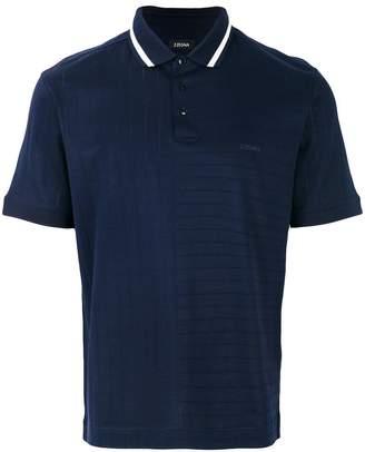 Ermenegildo Zegna ribbed polo shirt