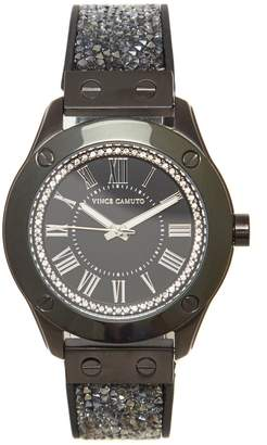 Vince Camuto Crystal Embellished-band Watch