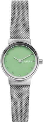 Skagen Freja Stainless Steel Crystal Mesh Bracelet Watch