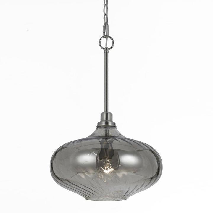 AF LightingAF Lighting Luna 1-Light Iridescent Smoke Glass Pendant