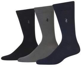 Polo Ralph Lauren 3-Pack Supersoft Flat Knit Socks Set