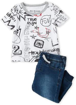 True Religion Infant Boys) Two-Piece Shirt & Pants Funk It Up Set