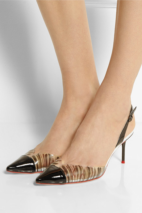Webster Sophia Daria PVC and patent-leather pumps
