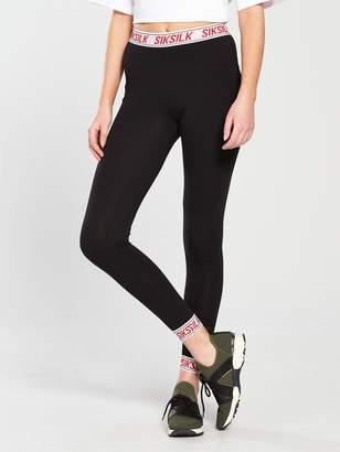 SikSilk Elastic Cuff Leggings - Black