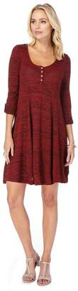 Mantaray Red Textured Stripe Swing Dress