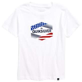 Quiksilver Stars & Stripes Graphic T-Shirt