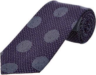 Cole Haan Navy Dock Dot Silk-Blend Tie