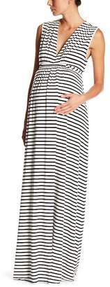 Rachel Pally Maternity V-Neck Patterned Maxi Dress