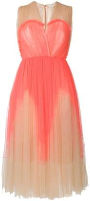 DELPOZO flared pleated dress