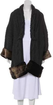 Oscar de la Renta Fur-Trimmed Cashmere Cardigan