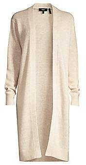 Theory Women's Linen & Cashmere Open-Front Cardigan Sweater