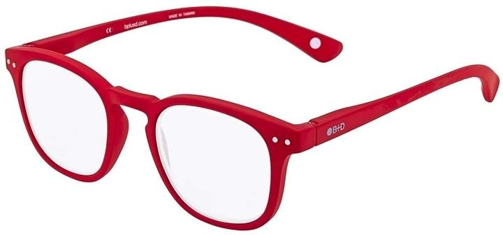 B+D Dot Reader Matt Red Eyeglasses
