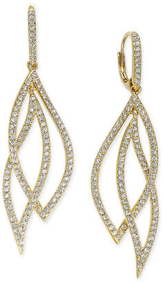Danori Pavé Crystal Leaf Earrings, Only at Macy's $90 thestylecure.com
