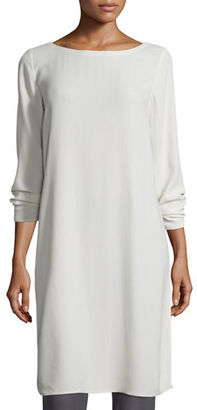 Eileen Fisher Silk Georgette Crepe Tunic, Petite $220 thestylecure.com
