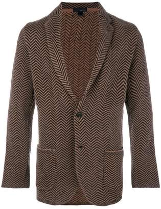 Lardini chevron knit blazer