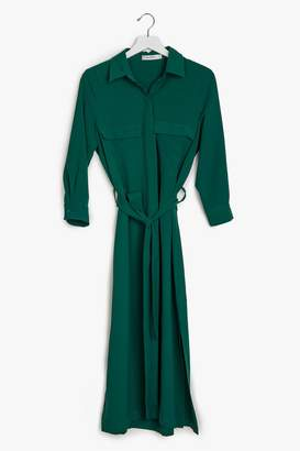 Genuine People Button Down Maxi Dress