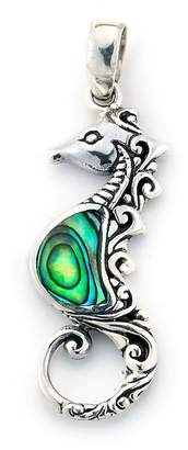 Samuel B Jewelry Sterling Silver Abalone Sea Horse Pendant