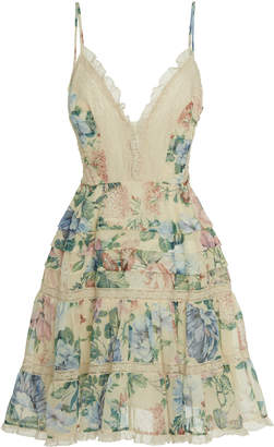 Zimmermann Verity Scallop Cotton Blend Mini Dress