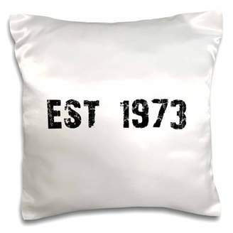 3dRose Grunge Est Established in 1973 - Seventies Baby Born Child of the 1970s - Personal custom birth year - Pillow Case, 16 by 16-inch
