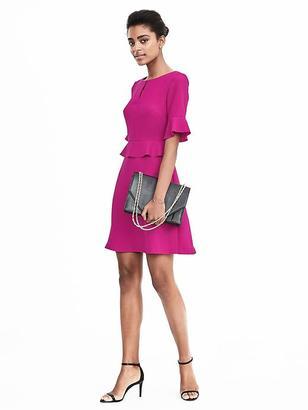 Peplum Flounce Dress $128 thestylecure.com