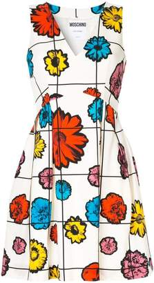 Moschino floral grid print mini dress