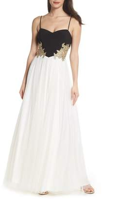 Blondie Nites Blondie Nights Embellished Tulle Gown